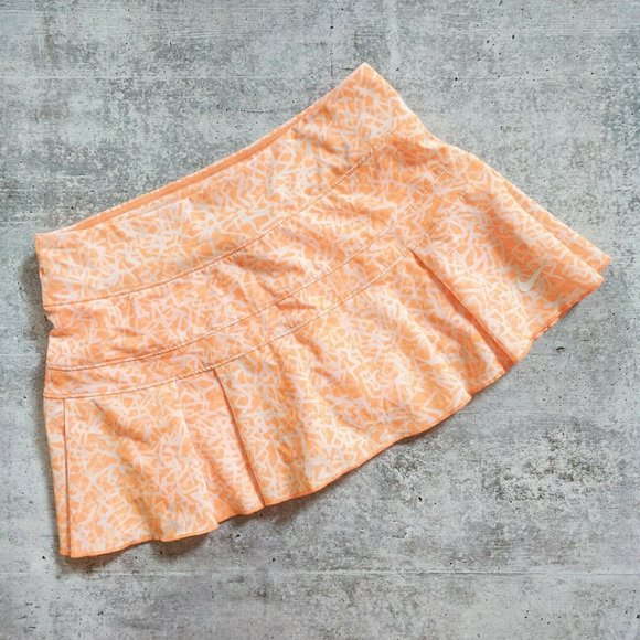 Nike Dresses & Skirts - Nike Orange Dri-Fit Tennis Skirt Skort XS